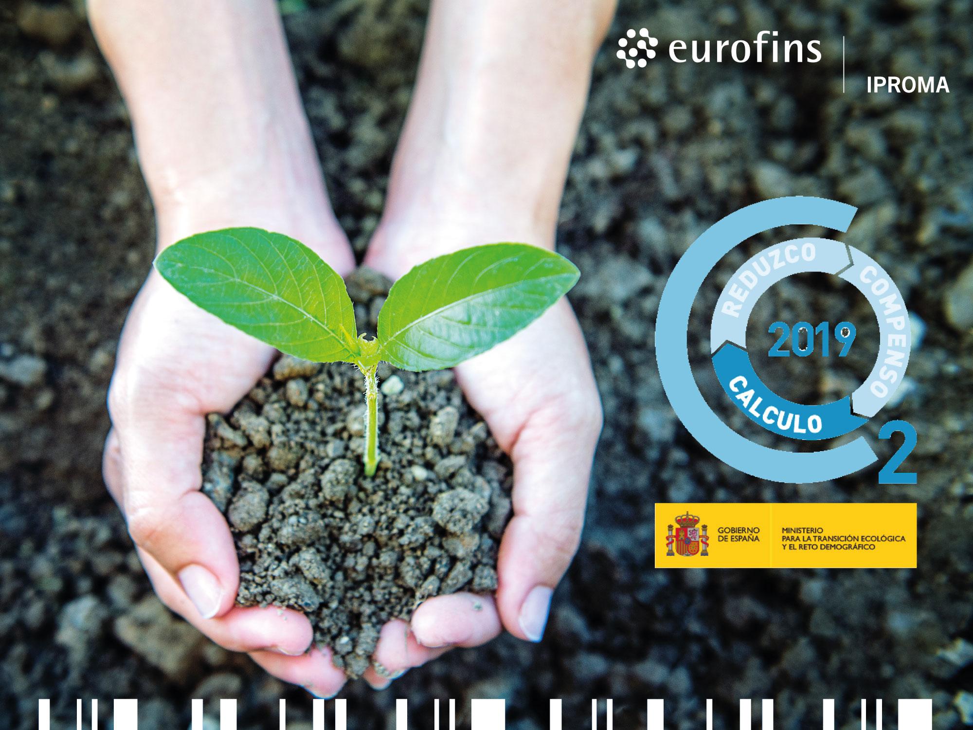 Eurofins | IPROMA inscribe su huella de carbono en el Ministerio de Transición Ecológica